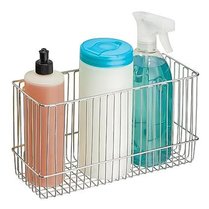 Amazon.com: mDesign Over-the-Cabinet Hanging Kitchen Storage Basket ...