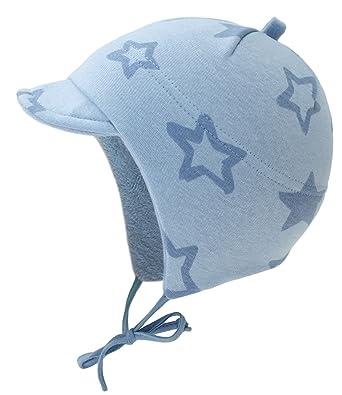 EveryHead Fiebig Garçon Bonnet À Lanières Casquette Visière Chapeau d hiver  Cap De La Marque Bébé Petit Enfant avec Doublure en Peluche pour Enfants ... 6df6322c9b2