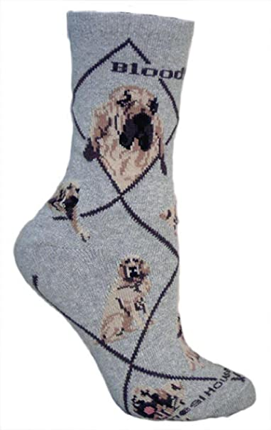 Perro de Saint-Hubert Design Calcetines Fantasía en para Perro Gris Gris Gris M