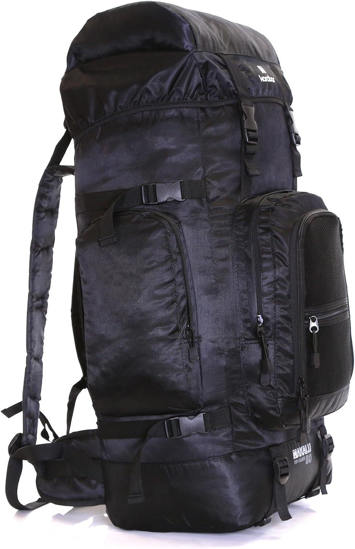 Makalu Black Karabar Extra Large Travel Hiking Backpack Rucksack Bag XL 80 litres 77 cm 1.3 kg