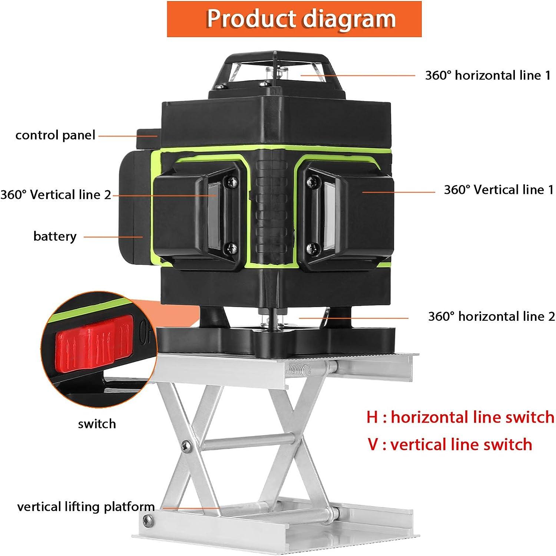 Kecheer Nivel laser autonivelante 16 l/íneas,Niveles l/áser 360 grados,Nivelador L/áseres de l/ínea suelo y pared,con l/ínea vertical horizontal oblicua