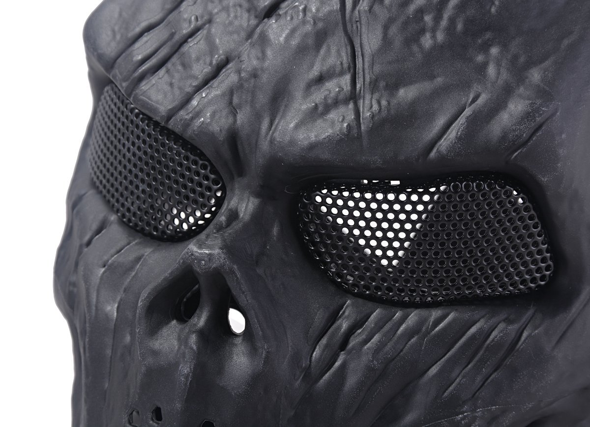 Amazon.com : Outgeek Airsoft Mask Scary Skull Outdoor Full Face ...