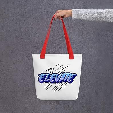 Tote bag-ELEVATE (blue font)