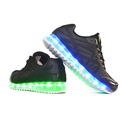 Envio 24 Horas Usay like Zapatillas LED Con 7 Colores Luces Carga USB Negro Hombre Mujer Unisex R Talla 36 hasta 41 Envio Desde España (EU38): Amazon.es: Zapatos y complementos