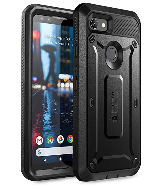 check out d48df 39d25 SUPCASE Full-Body Rugged Holster Case for Google Pixel 3, with Built-in  Screen Protector for Google Pixel 3 2018 Release, Unicorn Beetle PRO Series  - ...