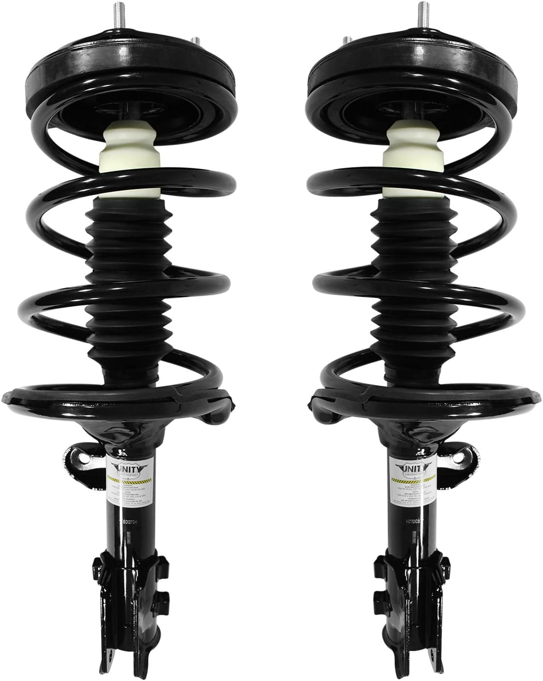 Unity Front Loaded Strut Coil Spring Assembly Pair Fit 2005-2010 Kia Sportage