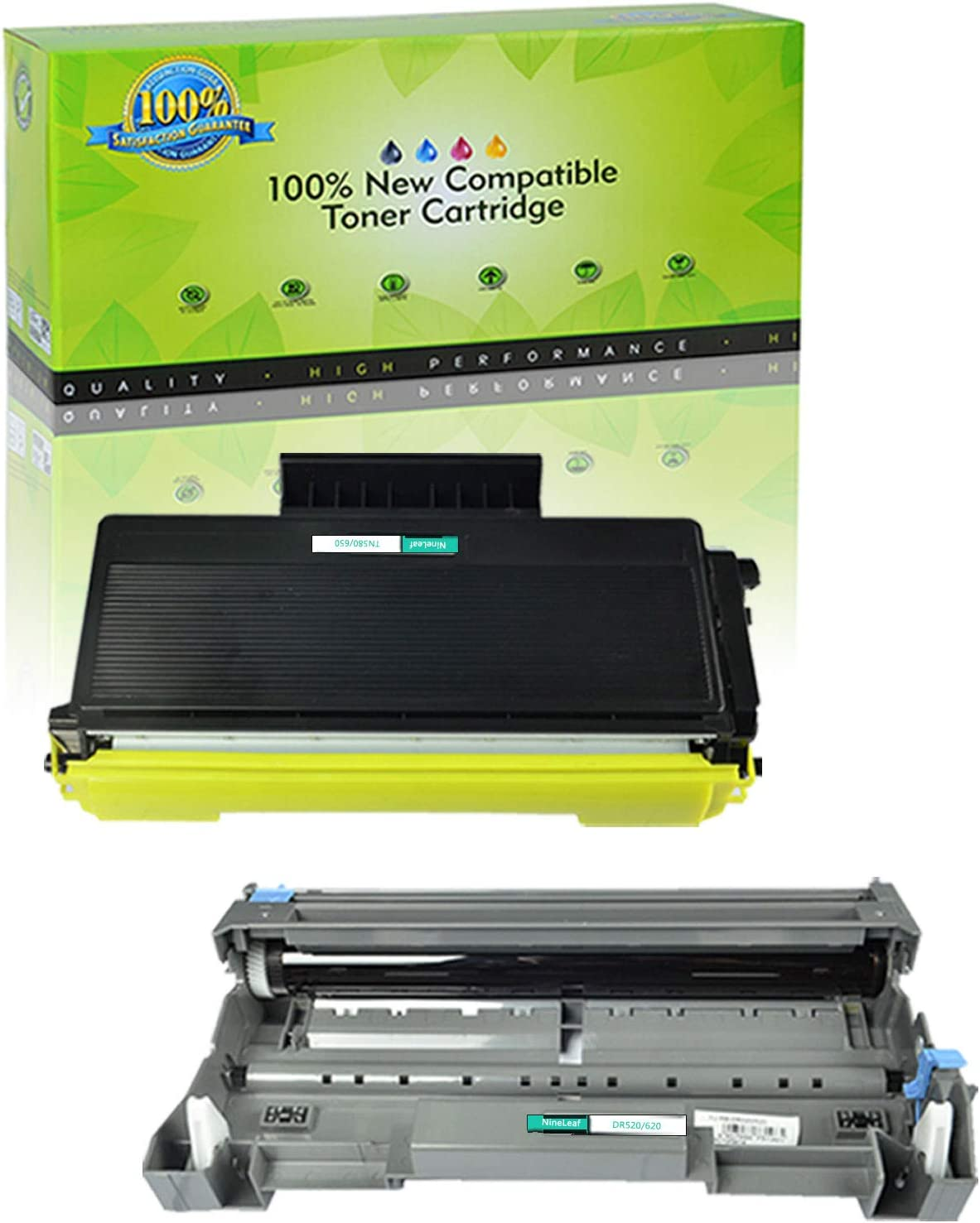 10PK New TN580 DR520 Toner Cartridge for  DCP-8060 DCP-8065DN USA SELLER!