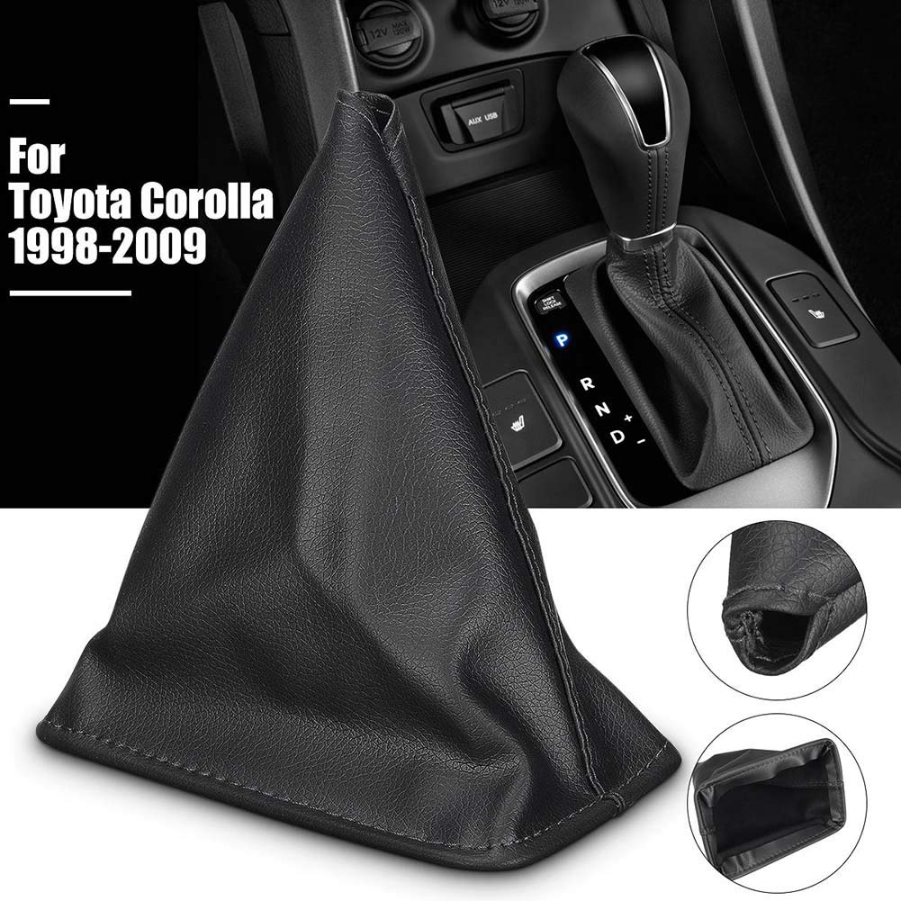 SEGRJ Gear Gaiter Cover Faux Leather Boot for Toyota Corolla 1998 1999 2000 2001 2002 Arrive Before Christmas