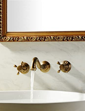 Sprinkle - Antique inspired Bathroom Sink Faucet - Wall Mount ...