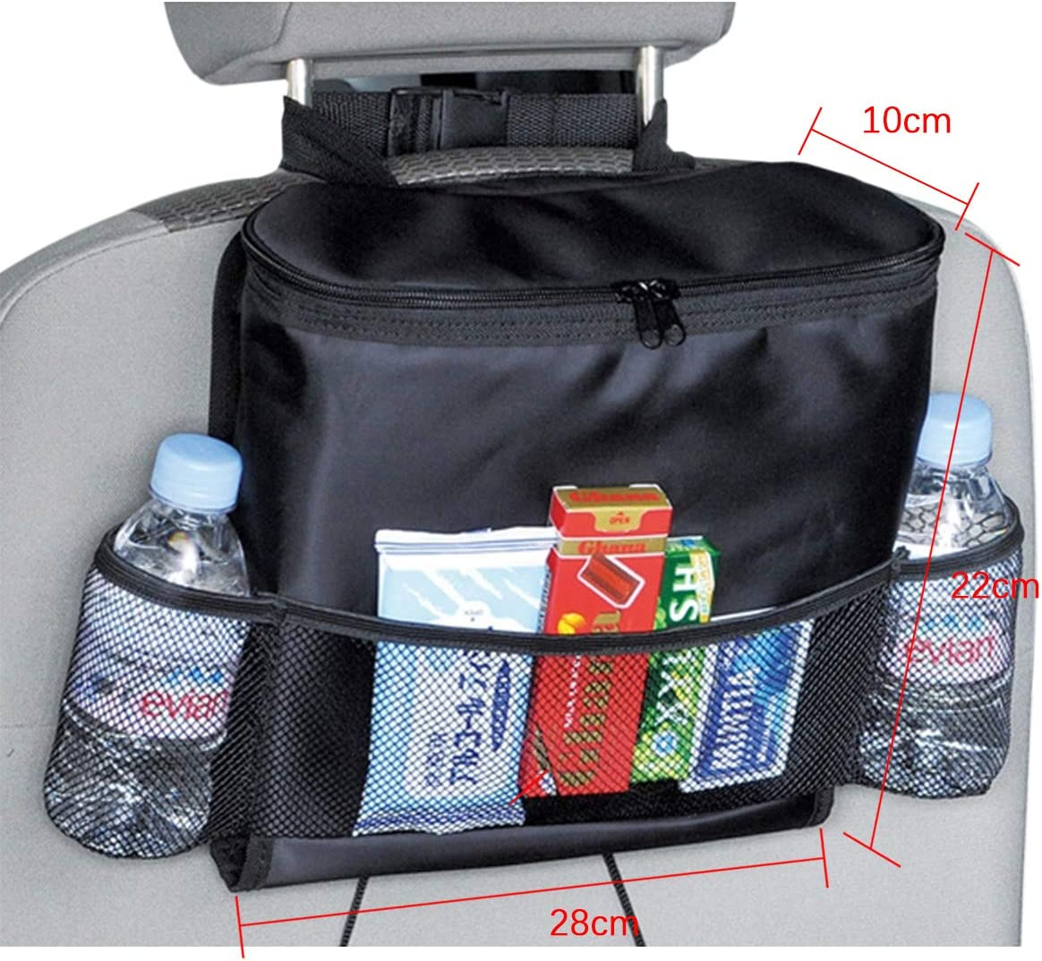 multi-function storage storage bag QJKJ Car seat back storage bag multi-pocket truck SUV outdoor travel insulation refrigerated storage bag beverage rack lunch bag