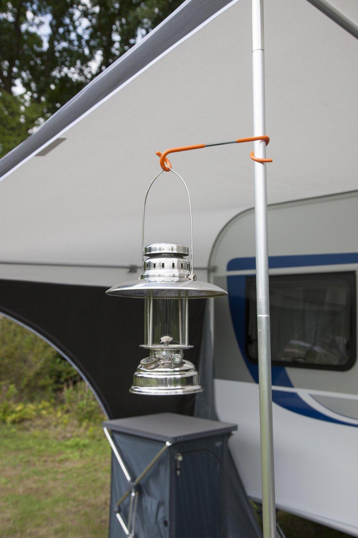 Stainless Steel Silver Bo-Camp Urban Outdoor Loxford Hurricane Lantern
