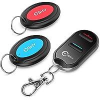 Esky lokalizator kluczy, bezprzewodowy lokalizator kluczy z 2 odbiornikami, lokalizator item Tracker z pilotem zdalnego…