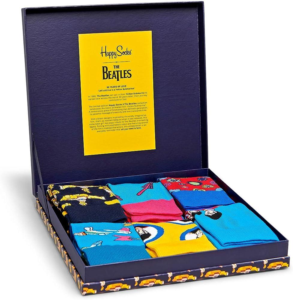 Multi One Size Happy Socks 7-day Gift Box Unisex Underwear