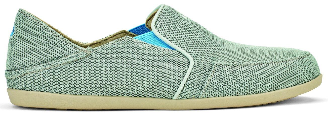 OLUKAI Waialua Mesh Shoes - Women's B01HIF7JFS 6 B(M) US|Pale Grey/Tide Blue