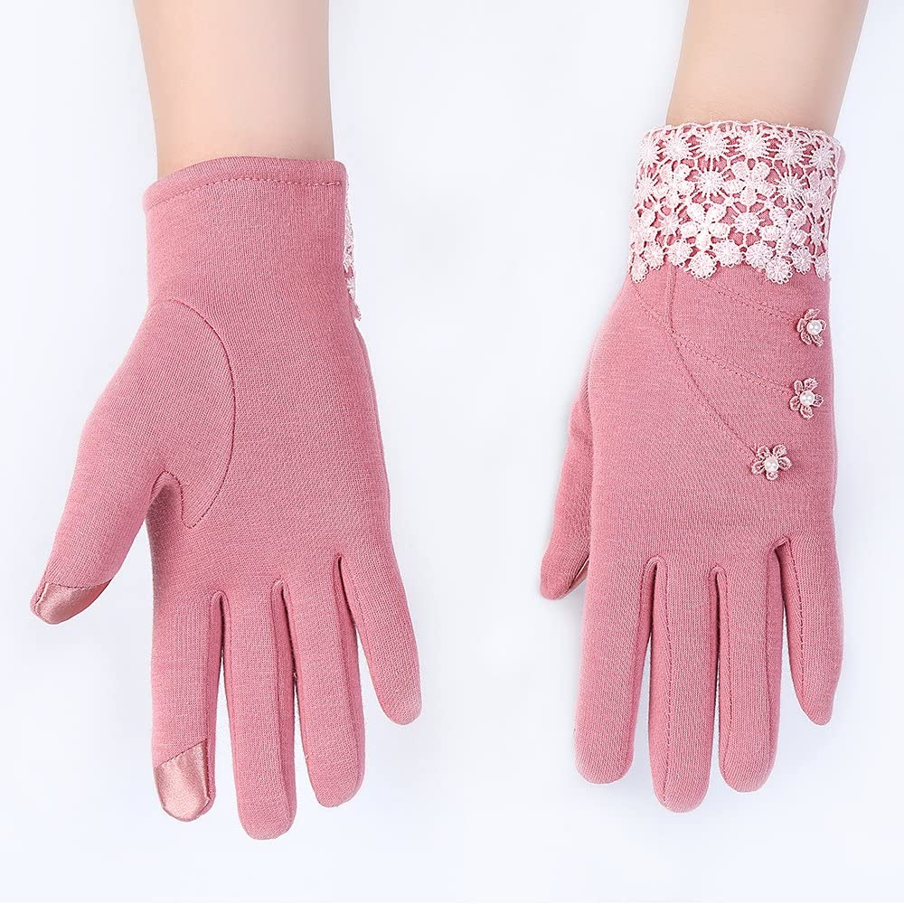 Eizur Damen Touchscreen Handschuhe Fahrradhandschuhe Winterhandschuhe Radhandschuhe Warme Handschuhe Winter Handschuhe mit Schneeflocke 6 Farben Optional