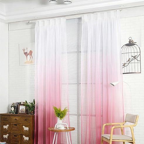 Amazon.De: Nibesser Transparent Farbverlauf Gardine Vorhang