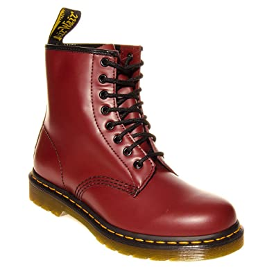 L1857Bur Dr Doc Martens 1460 Womens Cherry Red Leather Lace Up Ankle Boots  Size Uk 3 aeefbf2d1