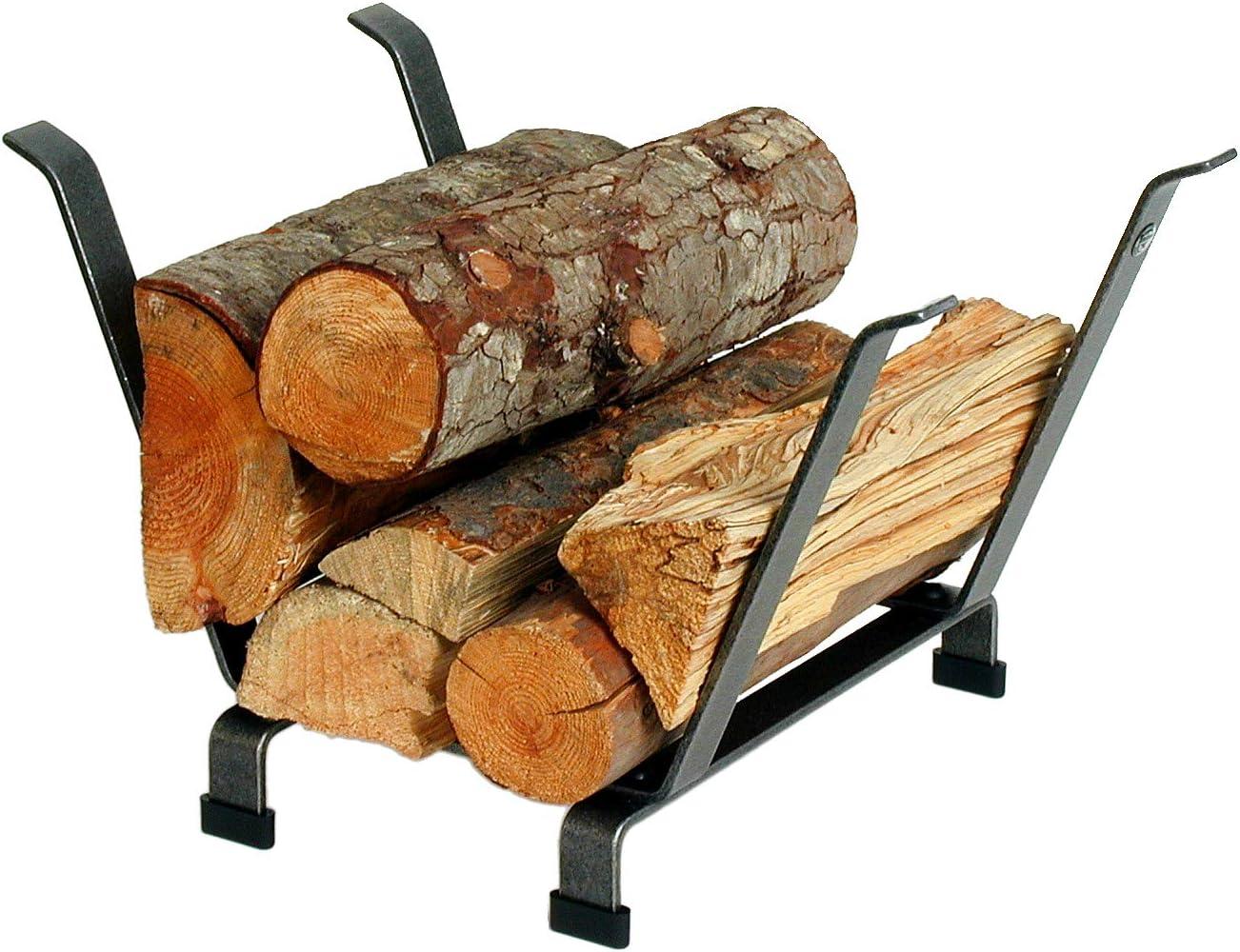 Enclume Country Home Log Basket Log Rack, Hammered Steel