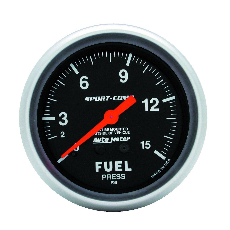 Auto Meter 3411 Sport-Comp Mechanical Fuel Pressure Gauge