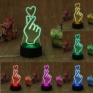Amazon.com: mimgo 1pc USB novedad 7 colores cambiantes dedo ...