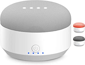 MYRIANN Rechargeable Battery Base for Google Home Mini, Portable Accessories with Magnetic Base & Anti-Slip Rubber Pads Compatible for Google Home Mini Voice Assistant (White)