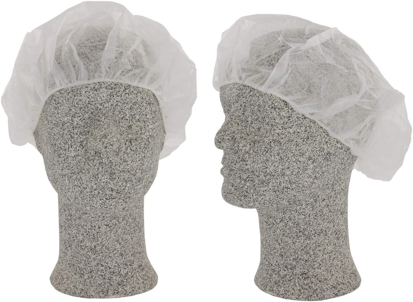 CS-Comfort Baretthaube - Einweg-Kopfschutz- Einweg-Damenhaube - weiß Haarschutz, Haarnetz für einmal Benutzung - 100 Stück CS-Kosmetikvertrieb