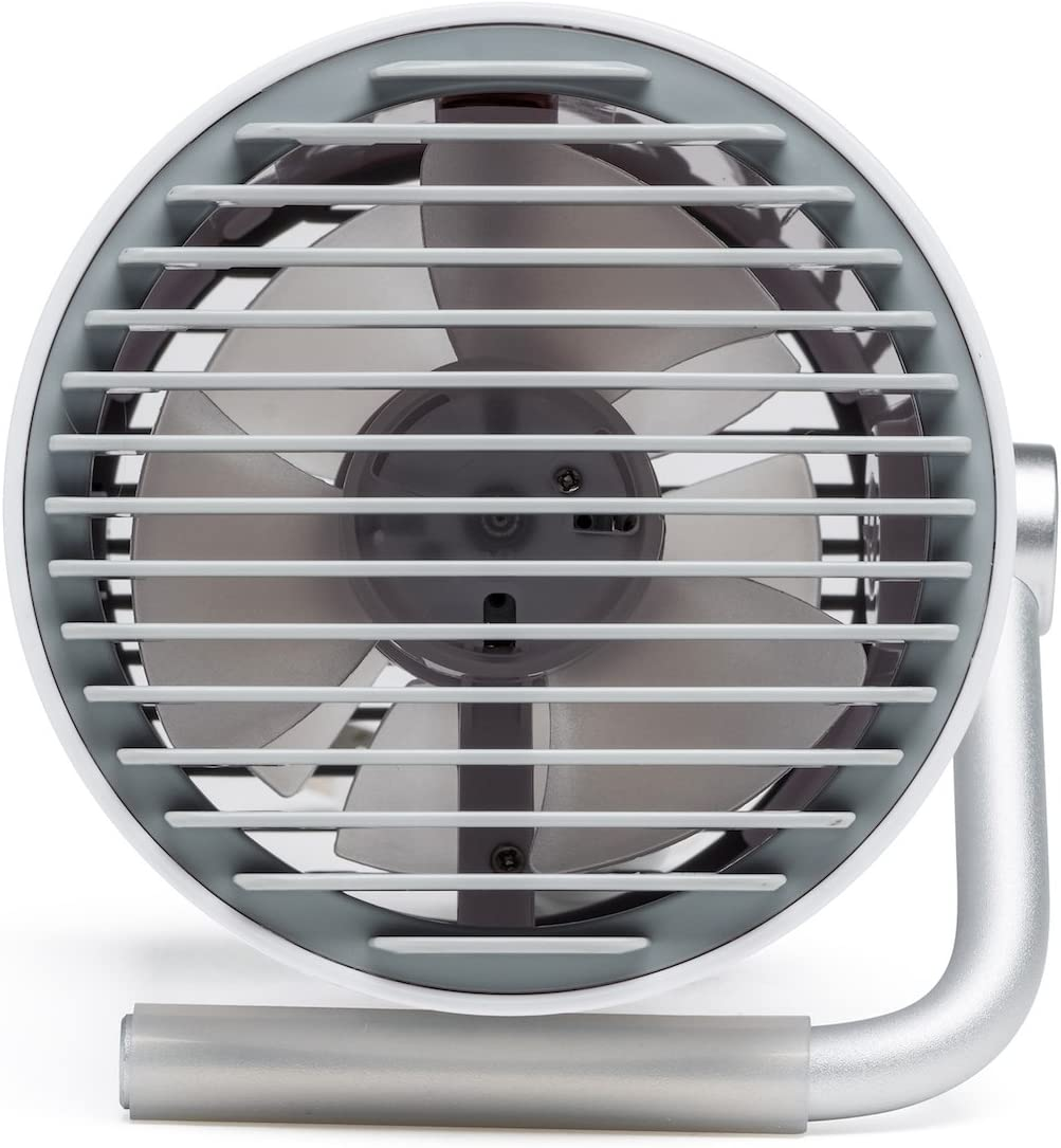 Fancii Small Personal Desk USB Fan, Portable Mini Table Fan with Twin Turbo Blades, Whisper Quiet Cyclone Air Technology – for Home, Office, Outdoor Travel White