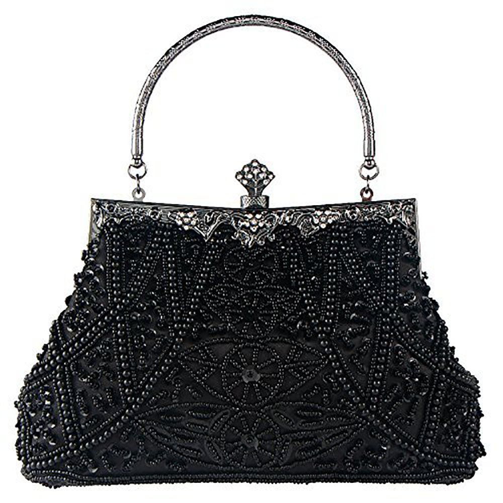 b4b1213ac3c6 Bagood Women s Vintage Style Beaded And Sequined Evening Bag Wedding Party Handbag  Clutch Purse product image