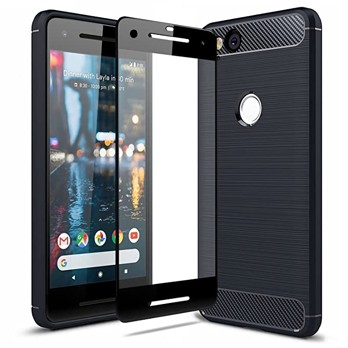 the best attitude c471d 3d348 Olixar Google Pixel 2 Case with Screen Protector - 360 Degree Full Body  Cover - Edge to Edge Tempered Glass - Front and Back Tough Rugged  Protection - ...
