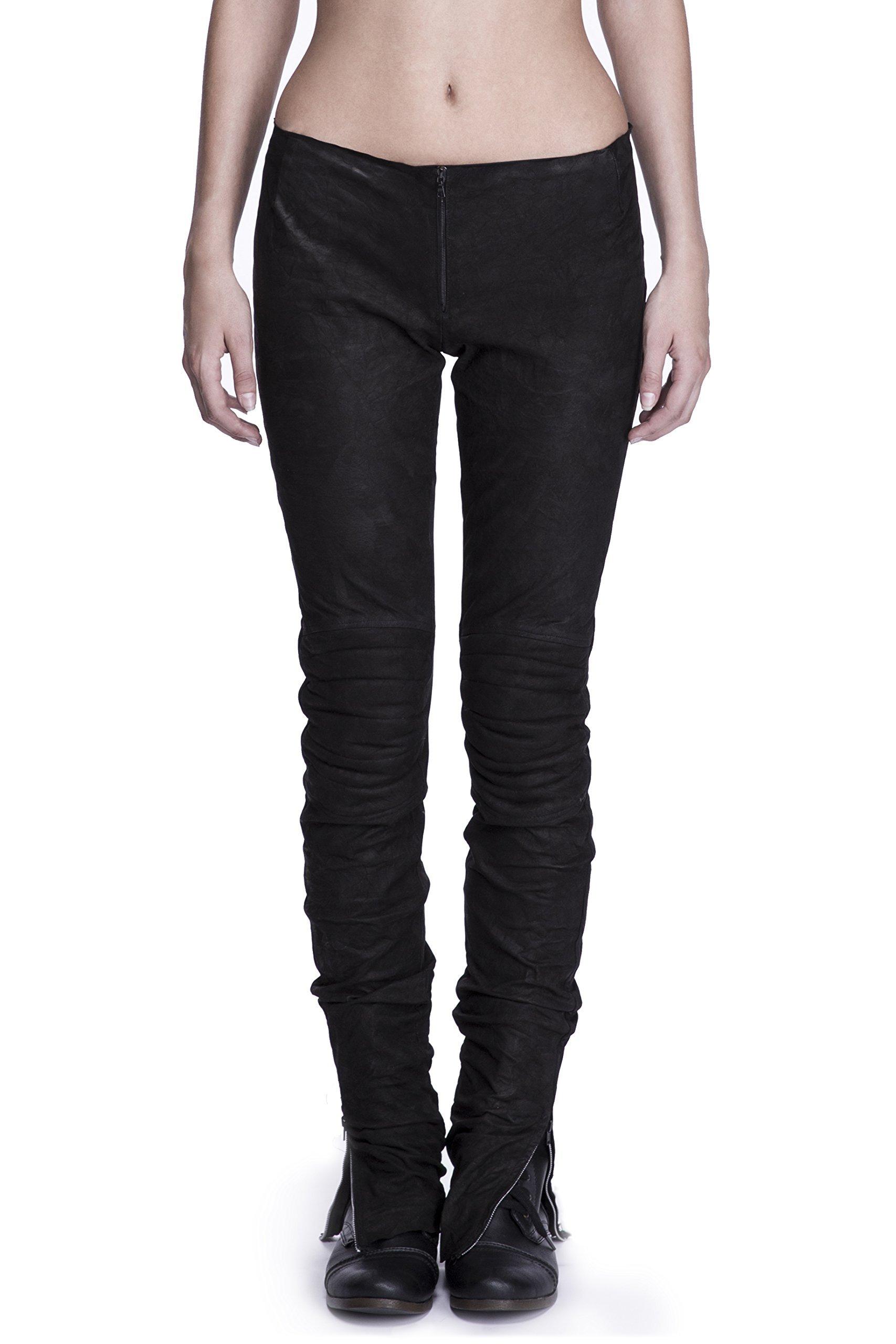 Lamb Leather Biker Jeans by Corvus + Crux