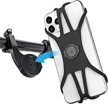 Teaisiy Soporte Teléfono Bicicleta, Soporte Universal para Movil, 360° Rotación Soporte Universal Manillar de Silicona para Bicicleta de Montaña y Motocicleta,para Inteligente de 4-6.8 Pulgadas: Amazon.es: Electrónica