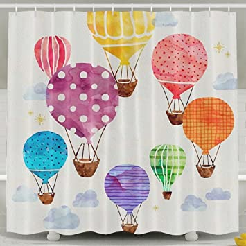 Ordinaire Colorful Hot Air Balloons Shower Curtain Mildew Mold Resistant Bath  Decorations Waterproof Water Repellent Bathroom