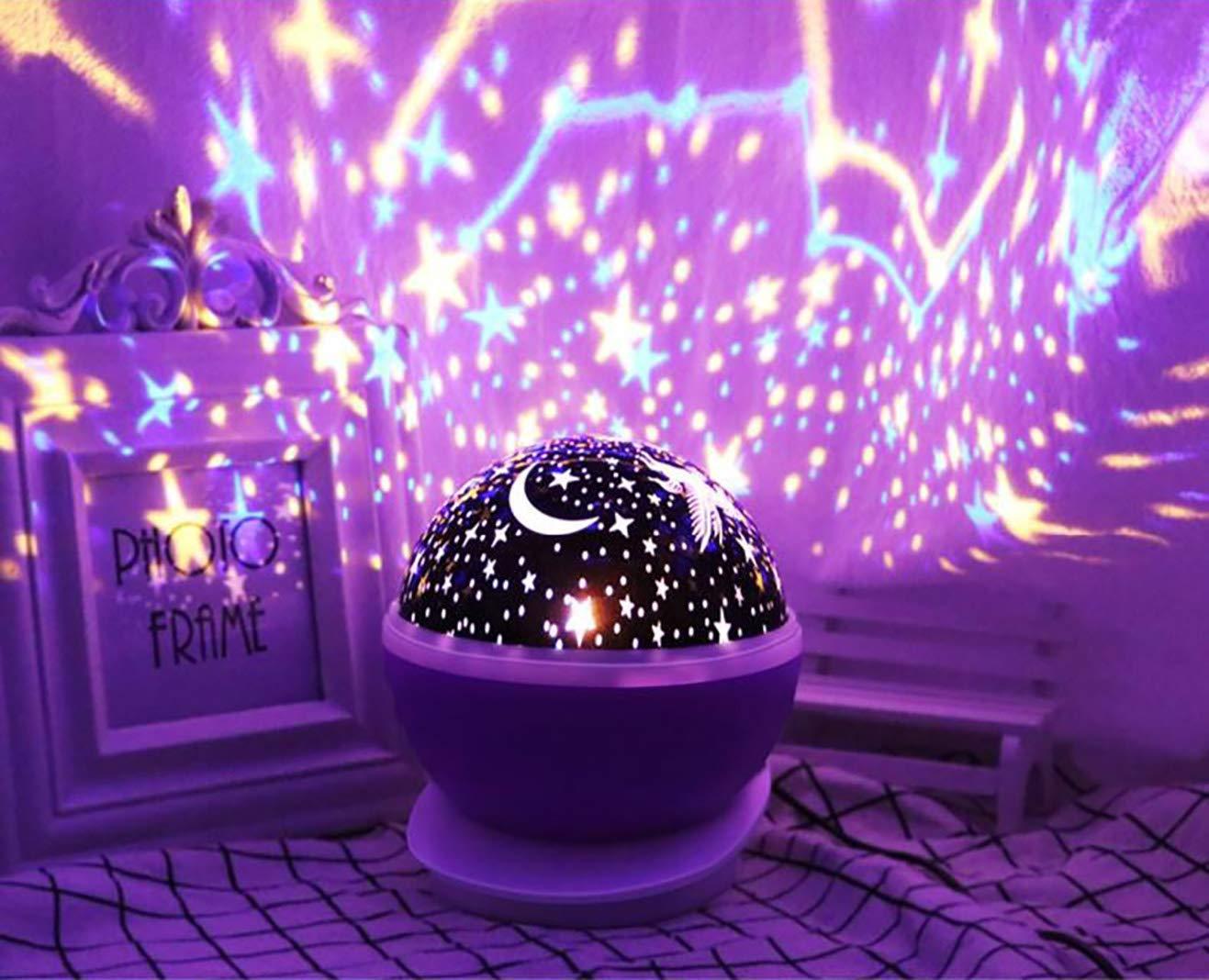 Baby Nachtlampe Einhorn Projektor Nachtlicht M/ädchen Geschenke f/ür Age1-10 Star Moon Light Projektor Blau Nachtlicht f/ür Kinder Einhorn Nachtlampe