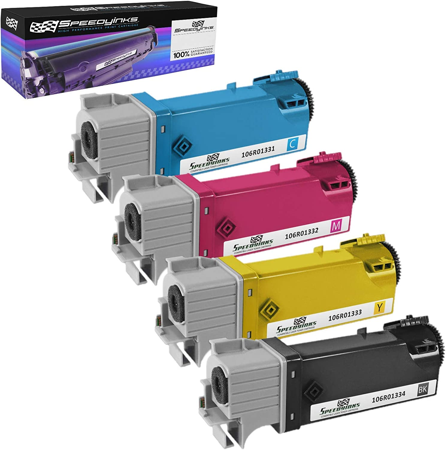 2,000 Pages Smart Print Supplies 106R1334 Black Compatible Toner Cartridge Replacement for Xerox Phaser 6125 Printers