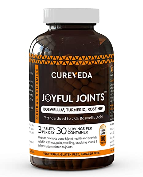 Cureveda™ Herbal Joyful Joints Tablets For Bone, Joint & Muscle Wellness  (90 Tablets)