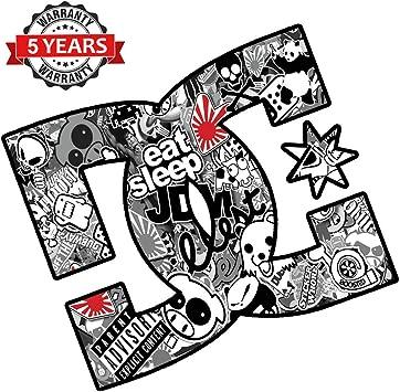 Fit Cartoon Black White Graffiti JDM Vinyl Sheet Wrap Decal Sticker Bomb 60 X 59