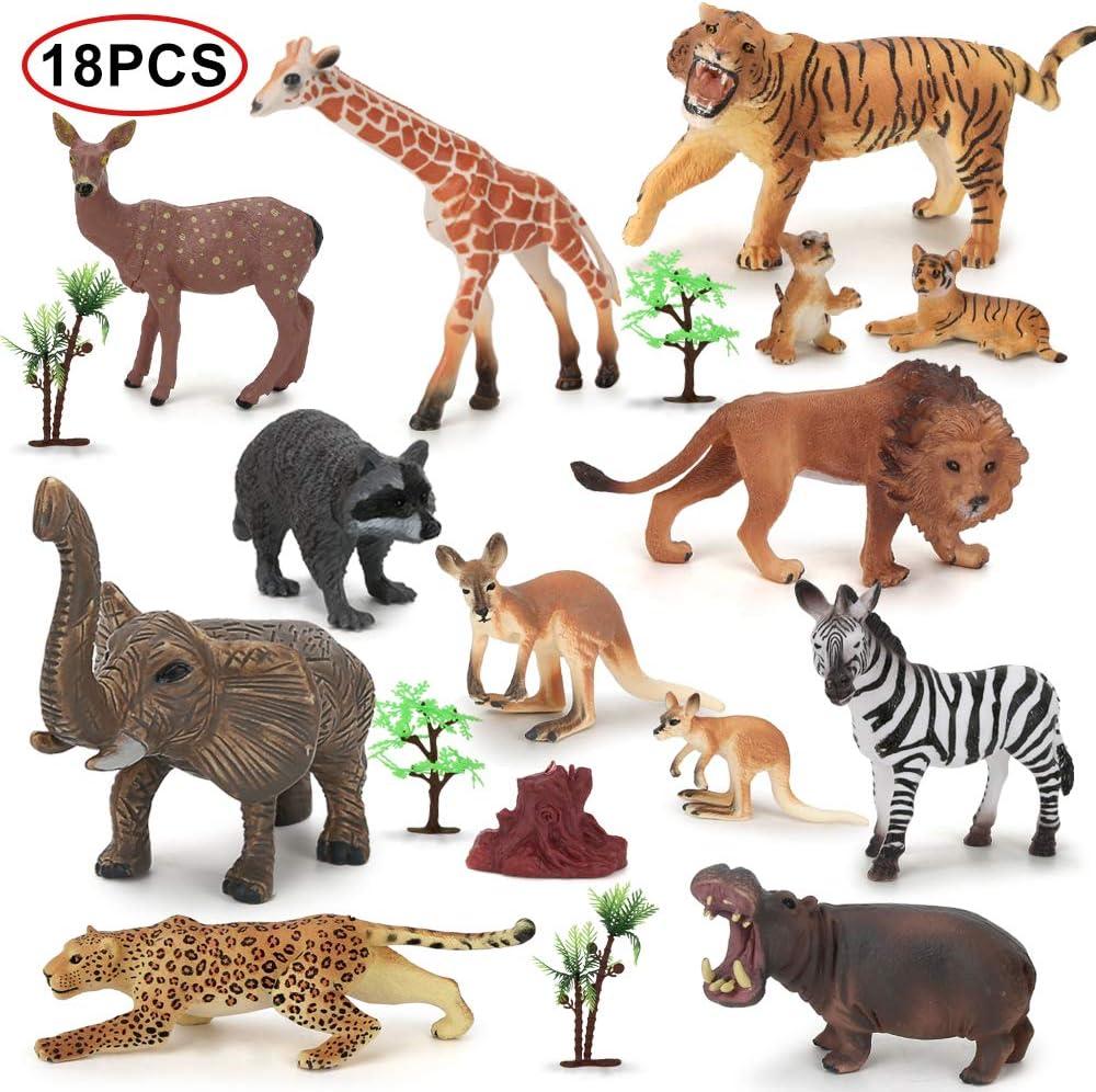Plastic Lifelike Mini Elephant Model Figure Toys Science Educational Toys