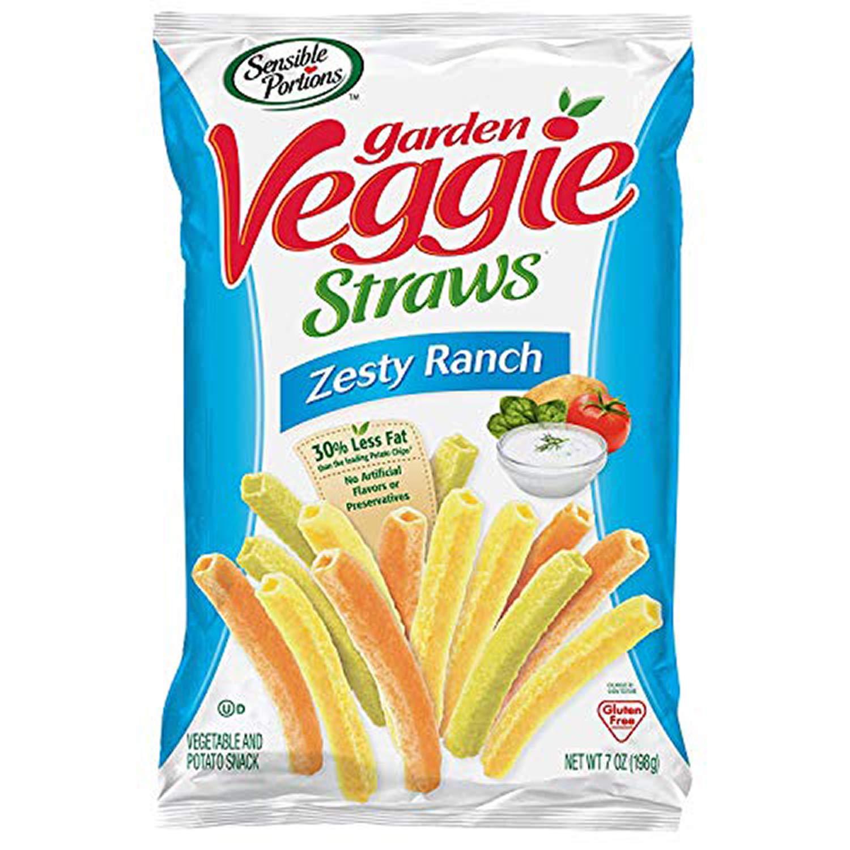Sensible Portions Garden Veggie Straws, Zesty Ranch, 7 oz. (Pack of 6)