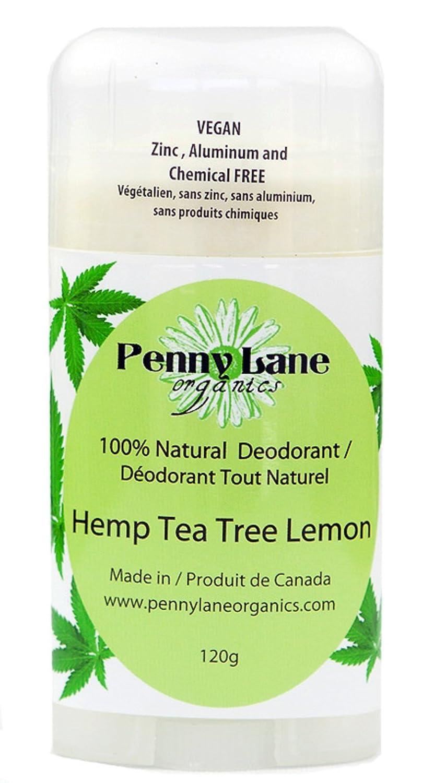Natural Deodorant - Hemp Based Tea Tree Lemon (VEGAN) Penny Lane Organics