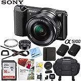 Sony Alpha a5100 Mirrorless Digital Camera 16-50mm Lens (Black Essential Kit)