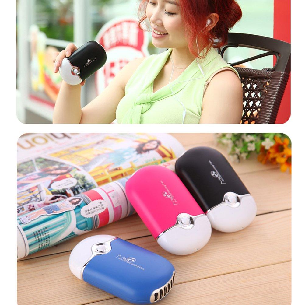 Frcolor Klimaanlage Tragbare mini Handventilator USB Miniklimaanlagen Rose Rot