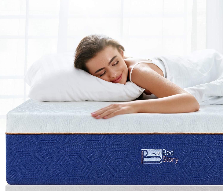 BedStory Colchón Viscoelastico 90 x 190 cm, Colchón de Espuma con Memoria, con Esencia de Lavanda |Extremadamente Duradero | CertiPUR-US Certificado | ...