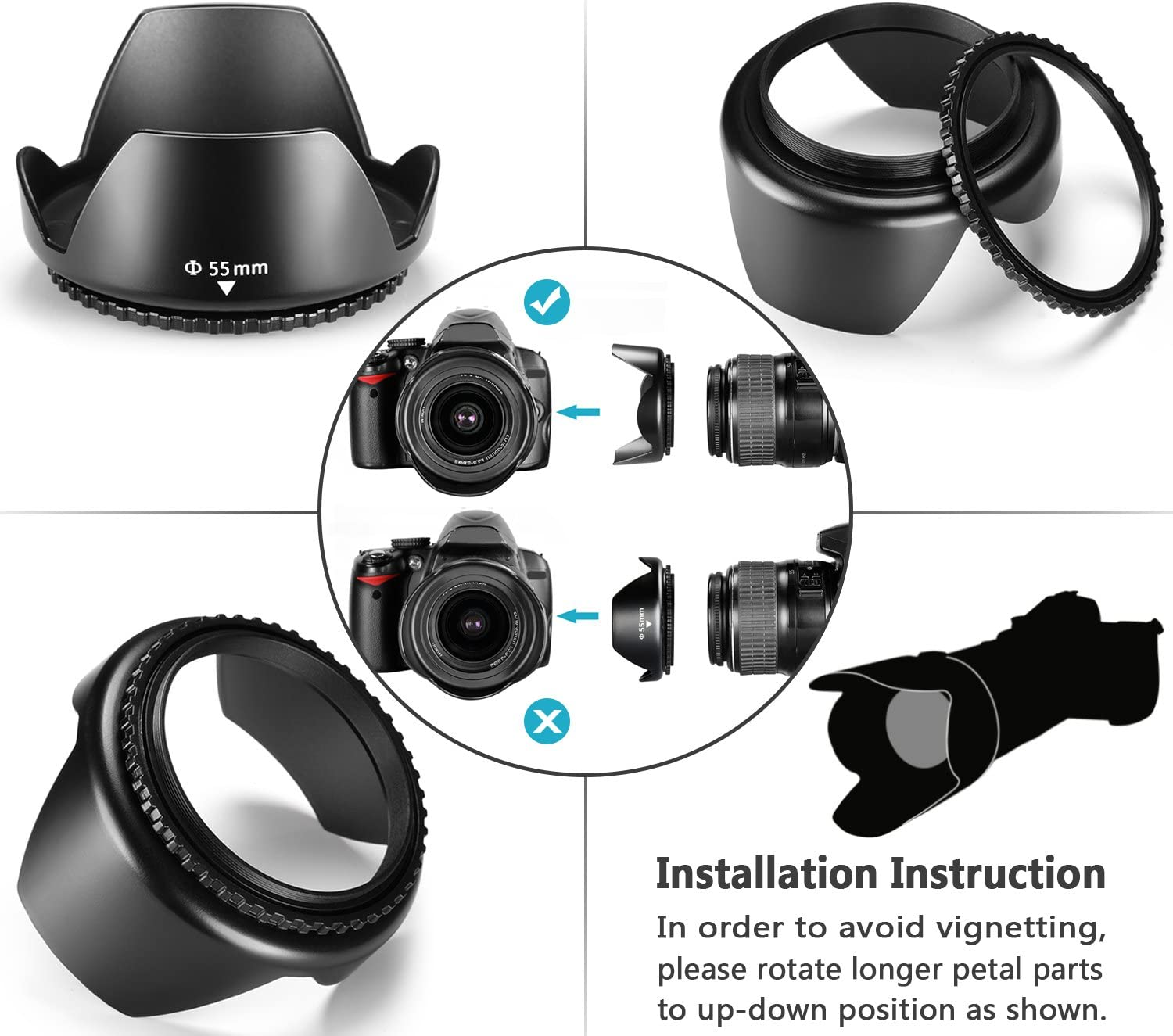 ND2, ND4, ND8 and Sony Alpha A99 A77 A65 K-30 K-50 K-5 K-5 Neewer 62MM Professional UV CPL FLD Lens Filter and ND Neutral Density Filter Accessory Kit for Pentax