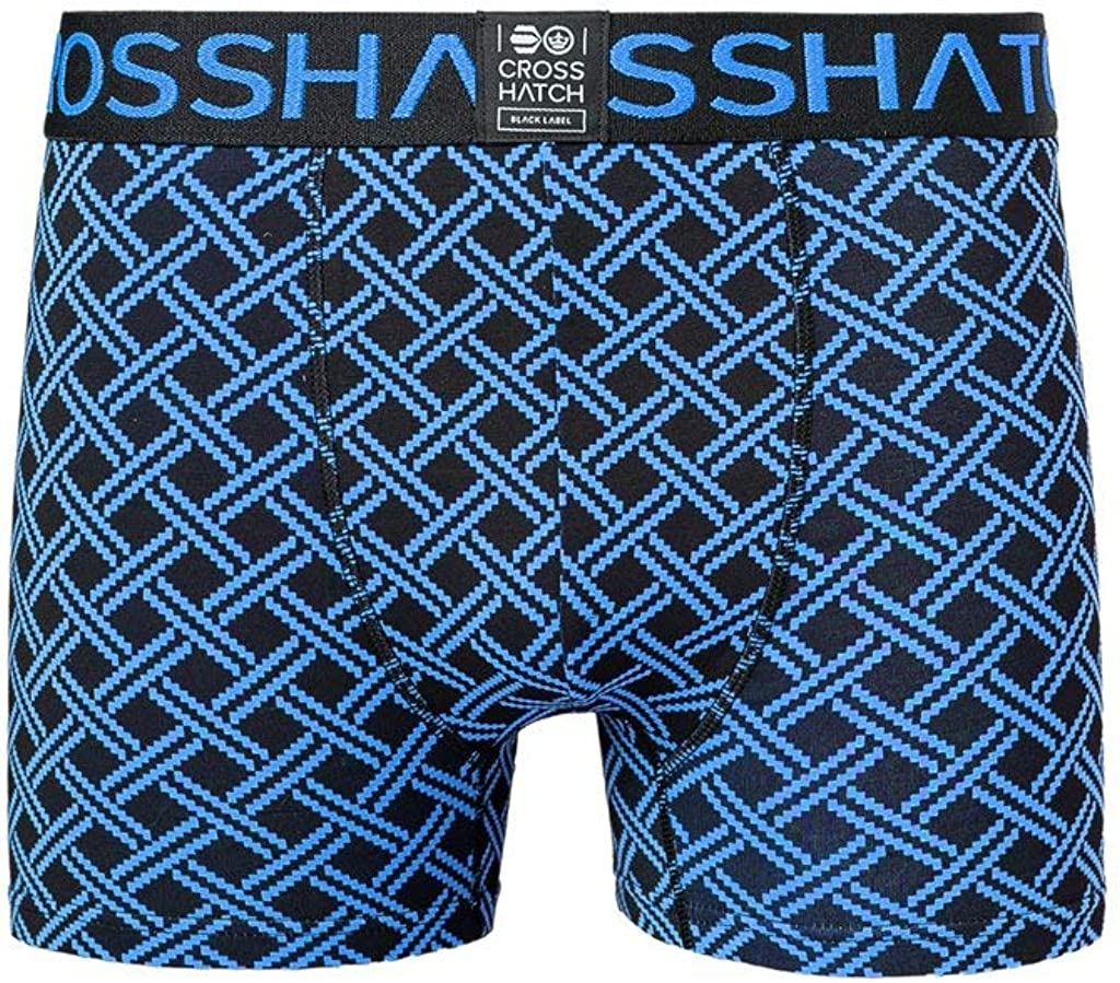 Crosshatch Mens Boxers Shorts Multipacked 3PK Underwear Gift Set 3 Pack Saunton Black Blue