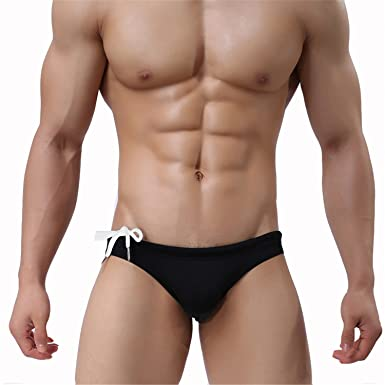 Man In Zwembroek.Welcometoo Swimwear Men Brave Person Nylon Elasticity Men S Board