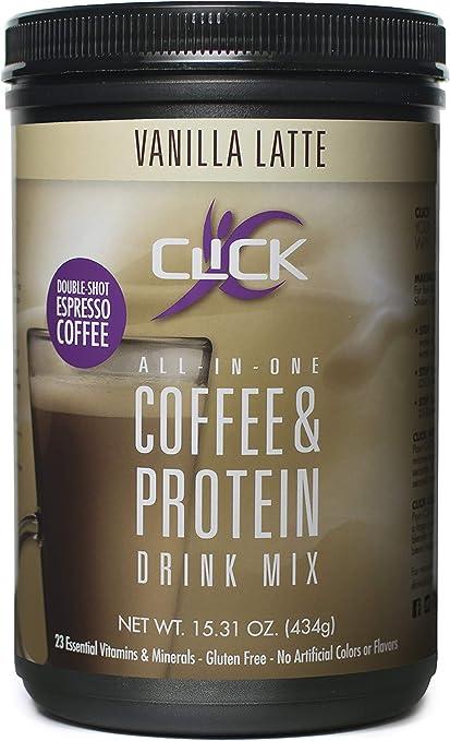 Amazon.com: CLICK Mezcla de proteínas de café, 860078002418 ...