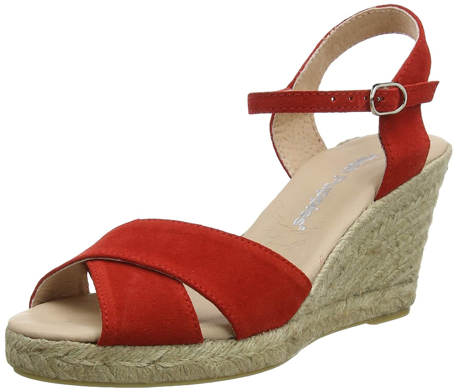 Red Hush Puppies Womens Ladies Sasha Wedge Sandals