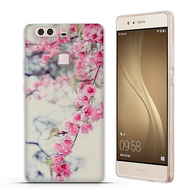 4 opinioni per Huawei P9 Plus Cover, Fubaoda 3D Rilievo Bel fiore UltraSlim TPU Skin Cover
