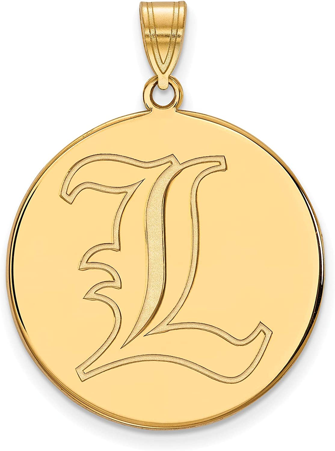 Kira Riley Gold Plated University of Louisville XL Disc Pendant for Chains and Necklaces
