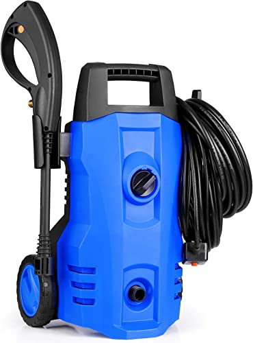 SIMBR 3000PSI Electric Pressure Washer, 2.3 GPM High Pressure Power Washer, Household High Pressure Cleaner with All-in-One Adjustable Nozzle, Ideal for Home, Fence, Yards, Ground, Cars Cleaning